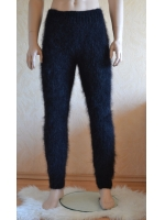 Black mohair jersey and pants