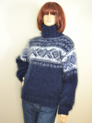 Ingenua mohair Norwegian sweater Navy blue