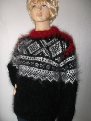 Black Norwegian sweater- L