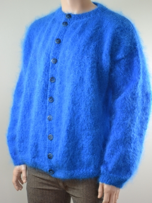 Hayfield mohair cardigan Atlantis Blue