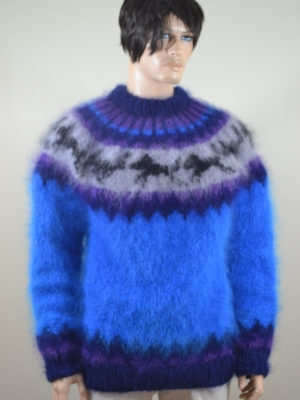 Icelandic hand knitted Hayfield mohair husky sweater