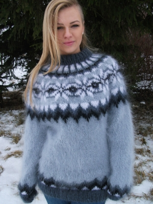 Imigination mohair sweater Light grey - S-M