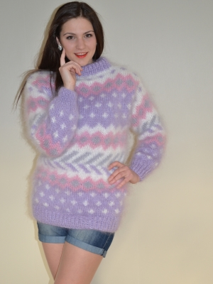 Mohair sweater in pastel colors