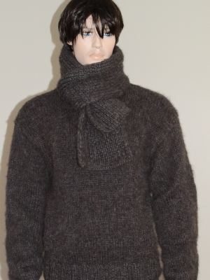 Katia Ingenua mohair sweater and scarf brown.