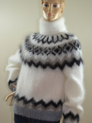 INGENUA mohair hand knitted turtleneck Icelandic  sweater