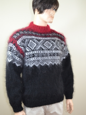 Black Norwegian sweater mens L-