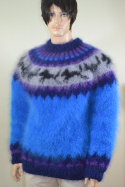Icelandic Hayfield mohair husky sweater - www.mohairmagic.com