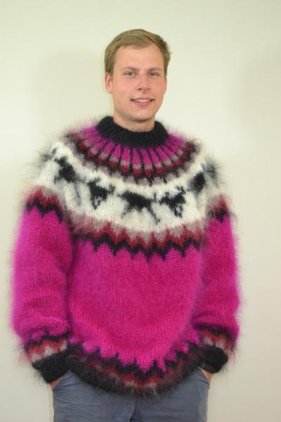 Hayfield mohair Huskysweater - www.mohairmagic.com