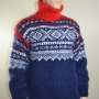 Thick Norwegian hand knitted mohair sweater
