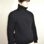 Thick  wool and mohair  sweater black -XL