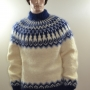 Hand knitted Icelandic mohair sweater ivory