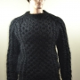 Thick  wool and mohair  Aran sweater black