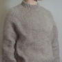 Thick mohair and wool sweater beige