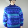 "Mohair sweater with pattern borders in ""Vienna"""