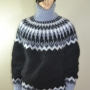 Arctic Ocean mohair crewneck sweater with separate turtleneck