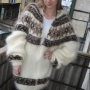 Gjof Icelandic mohair cardigan with hood and zipper