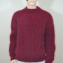 Mohair and wool swedish style sweater-bordeux
