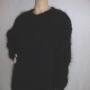 Mohair and wool swedish sweater black -XL