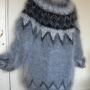 Eric  Icelandic mohair  crewneck  sweater grey-XL