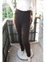 Hand knitted mohair pants cocolate size-XL