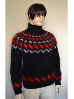 Black Icelandic mohair sweater-L